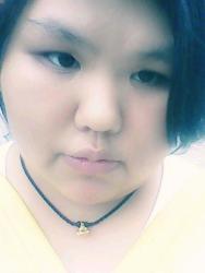 一个胖女生